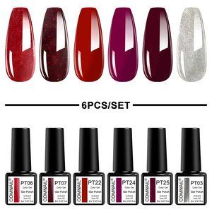 6Pcs Set Gel Nail Polish Soak Off UV LED Gel Varnish Long Lasting Lacquer Cured By Nail Dryer Semi Permanent Color
