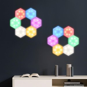 6PCS RGB DIY Battery Cabinet Wall Light Infrared Wireless Led Light Remote Control Closet Wall Sticker Creative Night