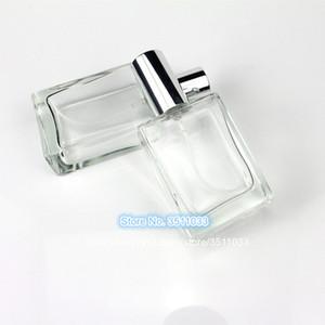 10PCS 30ML vidro claro spray garrafa de perfume Automizer recarregáveis garrafas Big Capacidade Cap Cor Prata recipiente de líquido
