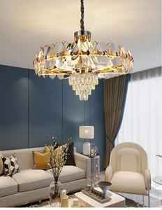 Новая акриловая лампа Arm мерцающий кристалл Люстра Light Luxury Infinite Затемнение Гостиная люстра освещение Dining Room подвесные светильники
