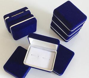 100pcs Blue Velvet Cufflink Holder Wedding Cufflinks Gift Storage Display Case Cuff Links Mens Jewelry Box 5.8*7*2.8cm Wholesale
