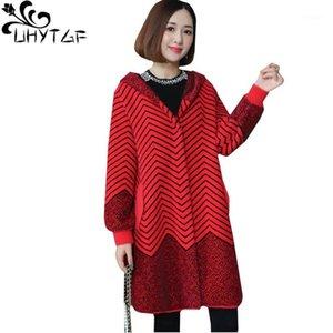UHYTGF Luxury Mink Cacheme Cashmere Winter Four Coat Women Houled Warmo Plus Size Coat Quality Paseos de doble cara Chaqueta de piel de invierno10591