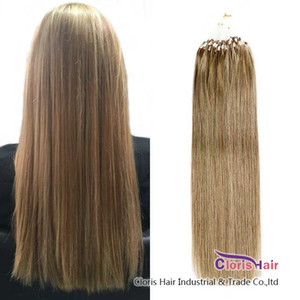 Healthy Tips Micro Bead Hair Extensions #10 Medium Golden Brown Straight Brazilian Remy Human Hair Loop Micro Ring Extentions 50g 0.5g s
