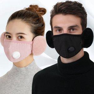 2 in 1 Ventilmaske Ohrenschützer Warme Mundabdeckung mit Plüsch Ohr Schutzmaske PM2.5 Dicke Mundmuffel Earlflap-Radmasken GGA3801