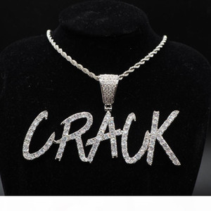 Custom Lovers Name Iced Out Twist Letters Chain Pendants Necklaces Men's Charms Zircon Hip Hop Jewelry With Twist Chain gift
