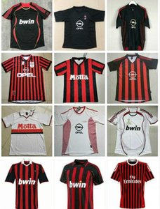 Retro 1990 2000 1962 1963 2007 2002 2003 2004 Ac Ronaldo Gullit Soccer Jersey 1988 96 97 Van Basten Kaka Inzaghi Camisa de fútbol
