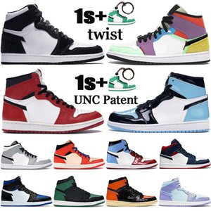 Nueva 1 Jumpman para hombre zapatillas de baloncesto 1s alta torsión OG TOKIO mediados de humo de la luz del dedo del pie gris Chicago patentes UNC mujeres de los hombres zapatillas de deporte