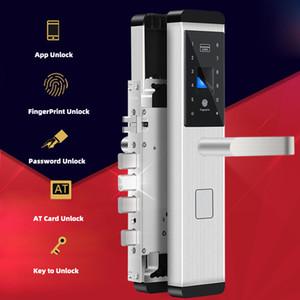 Biometric Fingerprint Door Lock Intelligent Electronic Lock Fingerprint Verification With Password RFID Key Unlock