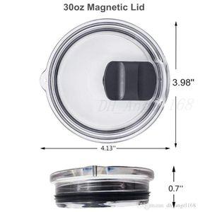 Hot 20oz 30oz Cups Lid Magnet Clear Lids Cover Beer Mug Splash Spill Proof Locking Slider Open Close Covers magnet Mugs lid Free shipping