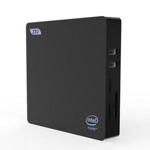 Gaming PC Z83-V мини PC Windows 10 (64-битный) Intel X5-Z8350 4G / 64GB EMMC мини-настольный компьютер поддерживает автоматическое питание на / hdmivga черный