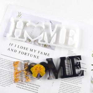 Aşk ev aile silikon kalıp aşk reçine kalıp aşk işareti kelime epoksi reçine kalıpları için DIY masa dekorasyon sanat el sanatları HHA3486