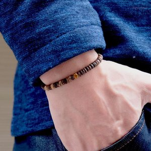 Noter Antique Wood Bracelet Mens Minimalist Small Wood Beads Braslet Bohemian Male Accessories Jewelry Moda Hombre Gift For Man1
