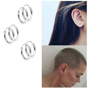 1 Pair Set Earring Fashion Women Girl Simple Round Circle Small Ear Stud Earring Punk Hip-hop Earrings Jewelry1