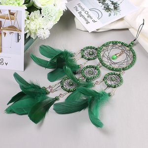 Creative simple handmade forest dream catcher crafts decorative ornaments gift bedroom living room wall hanging feathers-