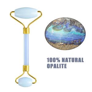 Natürliche Opal Jade Roller Guasha Set Opalite GesichtMassager Gesichtsrollen Gesicht Abnehmen Werkzeug Gesichts Aufzug Massage Gouache Screper
