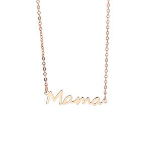 Bracelet en acier inoxydable Maman Bracelet Pendentif Bracelet Silver Gold Rose Gold Couleurs Meilleurs bijoux pour mamans Jour de la mère 122 J2
