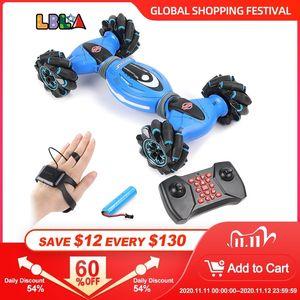 LBLA jest indüksiyon uzaktan kumanda dublör rc araba 4wd büküm off-road araç ışık müzik drift dans sürüş oyuncak çocuklar için 201105