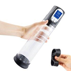 Elektrikli Acemi Penis Pompası USB Şarj edilebilir Otomatik Penis Büyütme Vakum Ereksiyon Penis Extender Erkek Enlarger Seks Oyuncak