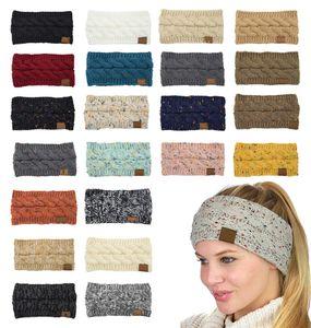 Designer Tricoté Bandeau avec logo Woollen Bandeau Coiffures Automne et Hiver Empty Top Hat Ladies Twist Accessoires cheveux XD23937