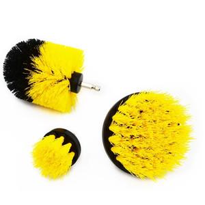 GOXAWEE 3 UNIDS Scrubber Cepillos limpios para destornillador eléctrico Talvo Alfombra Alfombra Tubas de Coche Neumáticos Cepillos de Nylon Herramienta de pulido 201214