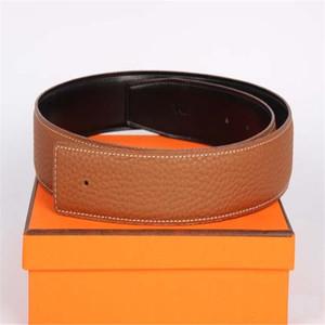 Court authentique en cuir véritable Hommes de haute qualité H Boucle lisse Boucle pour femmes pour femmes Boucle de cuivre pur