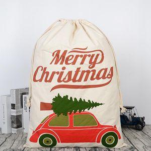 Рождество Хэллоуин Подарочная сумка Новый холст Большие мешки для хранения Санта Оленей кулиской конфеты мешок Рождество Свадьба 30 Стили BWF2676
