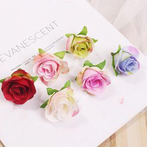 Flores de seda artificial rosa cabeça diy flor bola festival casa decoração de casamento acessórios fábula fábula dwd2702