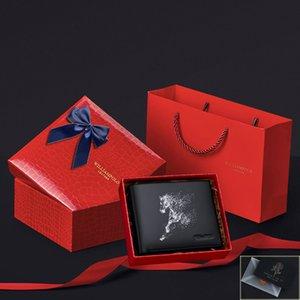 Bolso de cuero genuino Williampolo para hombres suavemente nuevo 2020 Tarjeta Monedero masculino titular con caja de regalo Pl201501