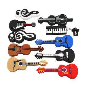 Wholesale cartoon 1GB cute Musical instrument Guitar violin USB Flash Drive 4GB 8GB 512mb 256mb Pendrive USB 2.0 Usb stick