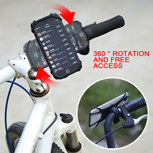 Silicone VTT mobile phone bicycle holder GPS universal holder smart phone bracket bicycle accessories 360 adjustable