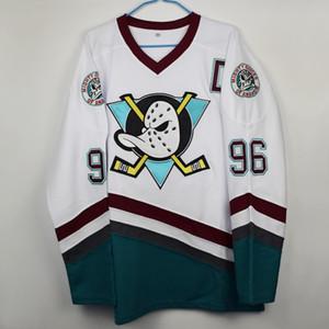 Hockey jerseys movie Ice Hockey 96 size 99 white duck cartoon long sleeve cotton T-shirt Hockey Wears
