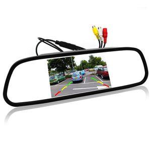 Cámaras de vista trasera Cámaras Sensores de estacionamiento de 5 pulgadas Color digital TFT 800x480 Monitor de espejo LCD 2 Entrada de video para Sistema de asistencia de cámara1