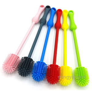 Silicone Bottle Brush Cleaner BPA Free Long Handle Baby Bottle Brush Ideal for Glass & Plastic Water Bottles Tumblers MY-inf0452