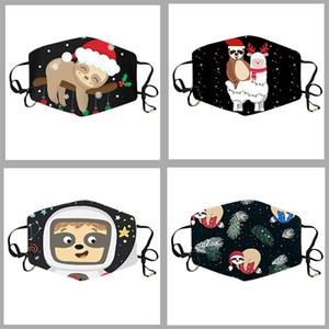 New Designer Children's Christmas Mask Dibujos animados Animal Moda Impresión Colgante Oído Polvo A prueba de polvo Mascarilla transpirable Ajustable Anti-niebla y Haze WA