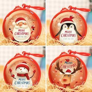 Bonbon de Noël Cadeaux de Noël Sac d'enfants filles Mini Porte-monnaie Père Noël Bonhomme de neige de Deer petit carré Portefeuilles de cadeaux de Noël