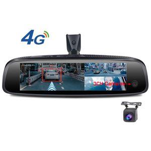 3CH 카메라 렌즈 전면 내부와 후면 카메라로 거울을 반전 8 인치 4G 터치 IPS 특별 CAR DVR 자동차 대시 캠 후면보기