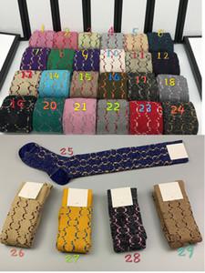 Brand designer With Box Famous Letter long Socks New Cotton Sock Fitted Brand Design women socks A211