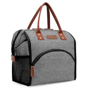 Trabalho escolar Piquenique Grande Capacidade Mulheres Handbag Thermo Food Bags Sacos de Isolamento Cooler Térmico para Kid Lunch Box Q1104