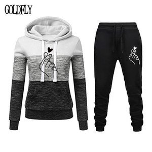 Plus Size Women Tracksuit Long Sleeve With Hat Tops Hoodies+Pants 2 Pcs Set Workout Sport Suits Sweatwear Outfits X0923