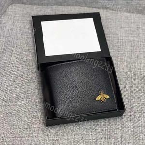 Männer Leder Luxus Designer Brieftaschen Berühmte Männer Geldbörsenbiene Lange Schwarz Geldbörse Biene Kurze Geldbörse Kreditkarte Hohe Qualität Karteninhaber