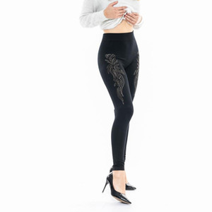 New Fashion Hot Drilling One-piece Trousers Ankle-length Pants Leggings Roupas Femininas