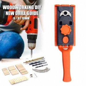 Multi-Size 6/8/10 milímetros Broca Carpintaria Duplo Perfuração Locator Carpintaria Oblique Buraco Locator Drilling RX2W #