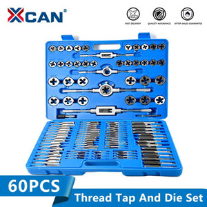 XCAN 110pcs Metric Tap Die HSS Screw Tap Drill Plug mano Chiave Threading Tools e Set Die