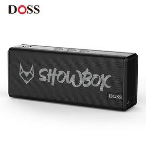 DOSS Showbox Bluetooth-Lautsprecher Soundsystem Tragbare Wireless Lautsprecher 360 ° Stereo-Sound mit Bass / eingebauter Mic-Unterstützung BT TF 201109