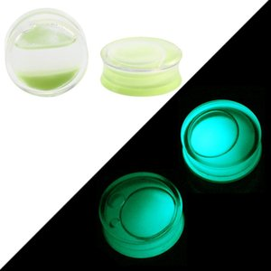 2pcs Glow In The Dark Sile Ear Plugs And Tunnels Piercing Expander Piercing Tunnel Ear Tunnels Stretchers Plug Ear Gauges Q jllBvZ