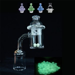 Newest 4mm Thick 25mm XL Splash Quartz Banger Nail Cyclone Spinning Carb Cap and Terp Pearl Insert For Dab Rig bong