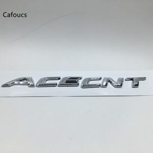 For Hyundai ACCENT ABS Chrome Rear Car Trunk Emblem Letter Sticker Auto Custom Tail Badge Decal