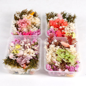 Dry Flower Mix 1 Box Real Dried Flower Decor Artificial Flowers Wedding Decor Resin Pendant Necklace Jewelry DIY Accessories