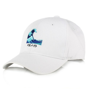 unisex adjustable Japn Sea Wave embroidery baseball Cap Hats Cotton Katsushika Hokusai Caps Kanagawa surf snapback hats gorra