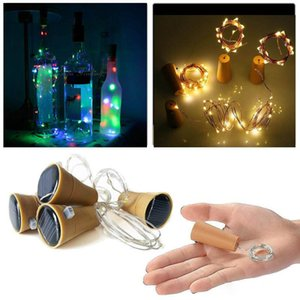 Girban 10 LED Solarwein Flasche Stopper Kupfer Fairy Stripe Draht Outdoor Party Dekoration Neuheit Nachtlampe DIY Cork Light String